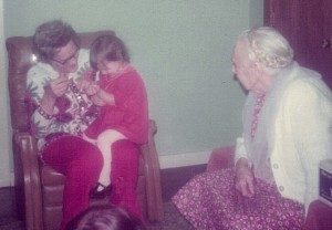 Growing up with some of my favorite old folks--my grandmother and great-grandmother!