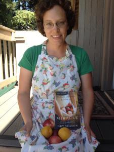 Jenni in her apron