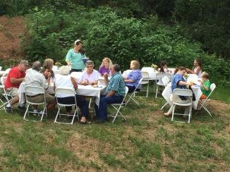 Plenty of food and lots of folks to enjoy it!