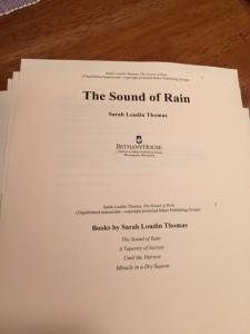Rain galleys