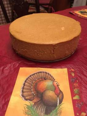 Pumpkin cheesecake courtesy of Fishhawk Acres and Chef Dale.