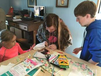Cousins getting crafty!