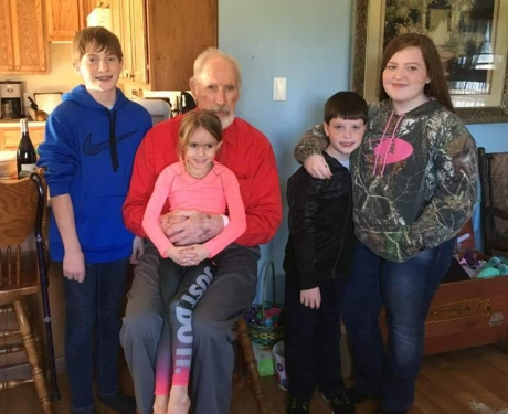 Grandpa and all the kids!